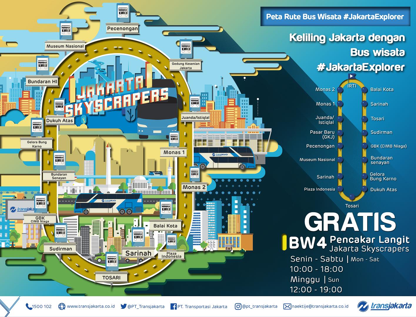 Bus Wisata Transjakarta Jakartaexporer Pt Transportasi Jakarta
