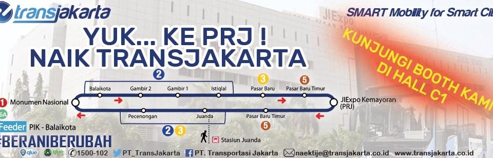 Ke PRJ naik Transjakarta