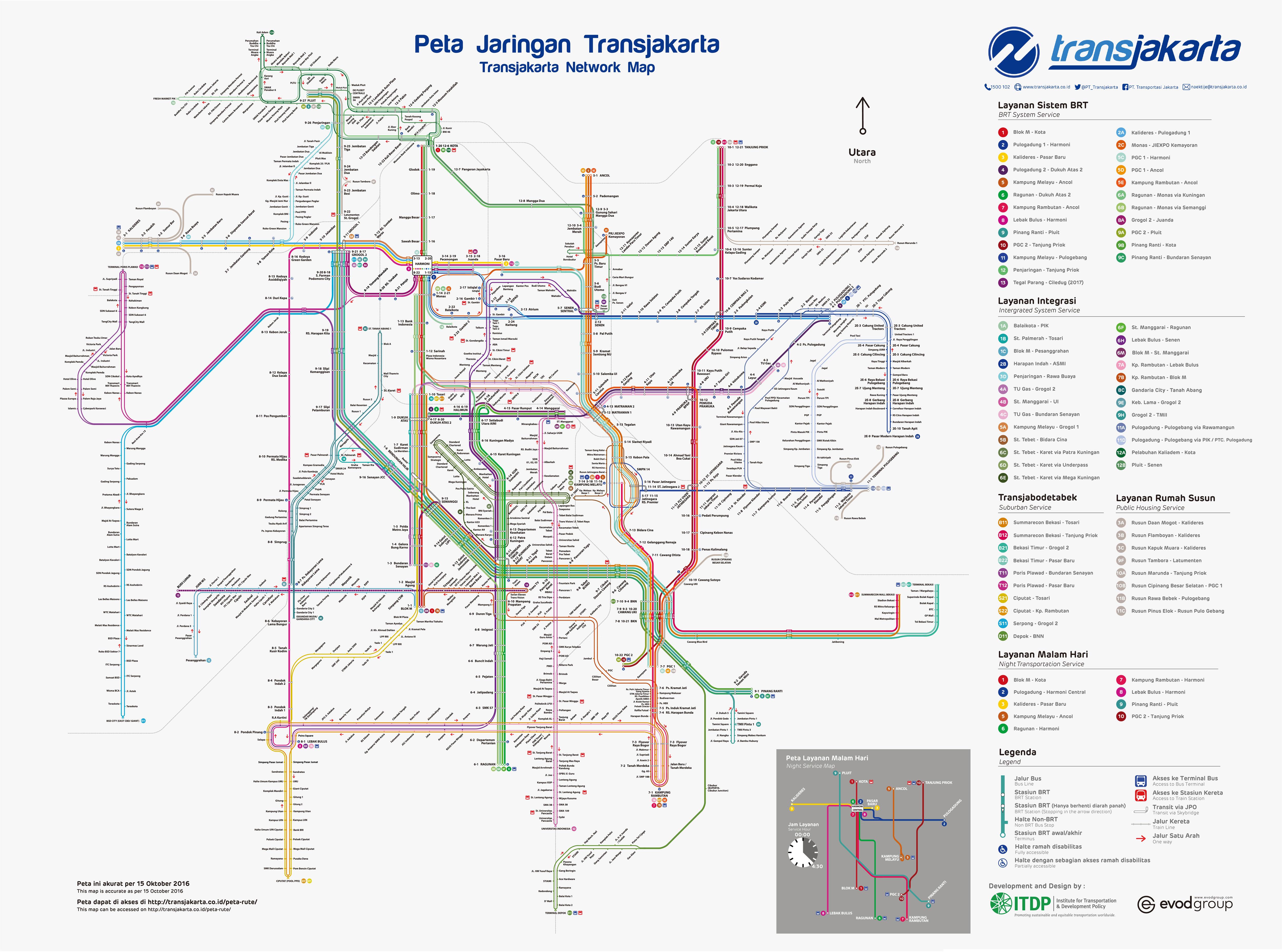 Peta Rute Transjakarta Ukuran Besar